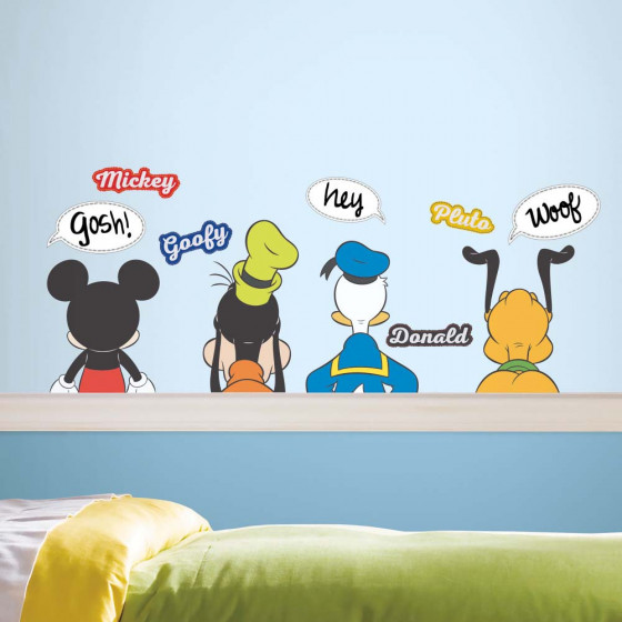 Mickey Mouse & Venner - Pakke #3 wallsticker