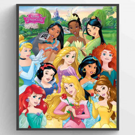 Disney Princess I am The Princess Plakat wallsticker