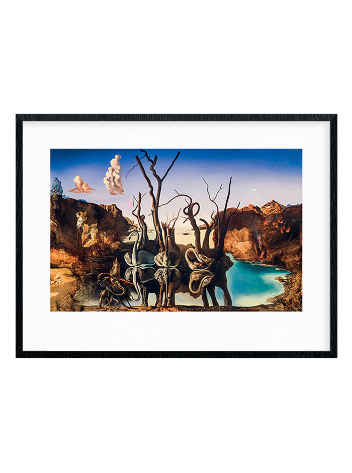 Salvador Dali - Swans Reflecting Elephants Plakat wallsticker