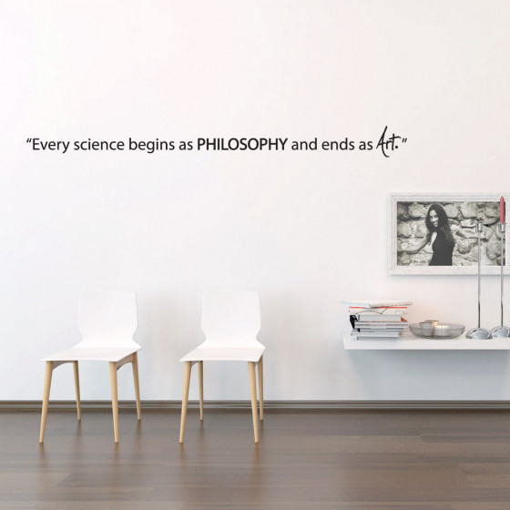 Science begins as philosophy wallsticker