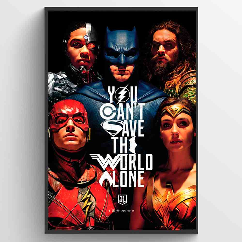 Justice League Movie Save the World Plakat wallsticker