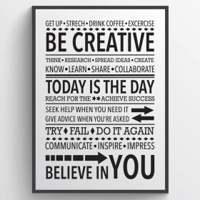 Be creative - Plakat wallsticker
