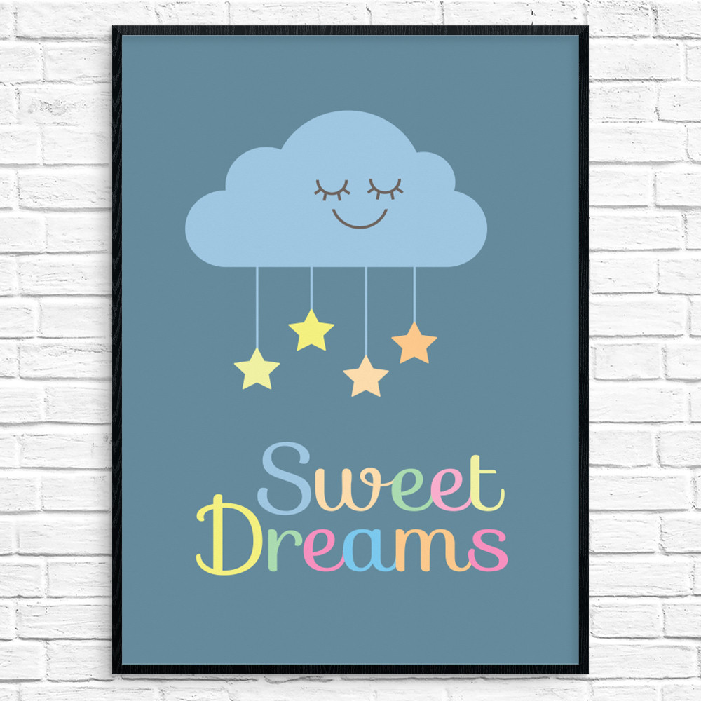 Sweet Dreams Plakat 2 wallsticker