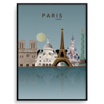 Paris Skyline Plakat