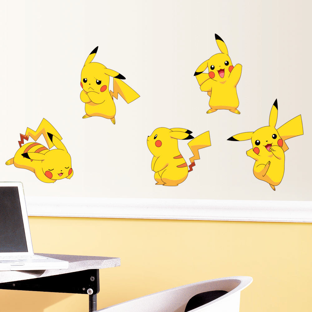 Pokemon Pikachu - pakke #2 wallsticker