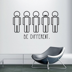 Be different wallsticker