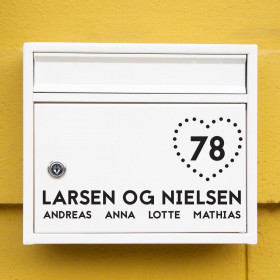 Hjerte wallsticker