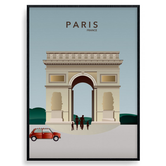 Paris - Triumfbuen plakat wallsticker