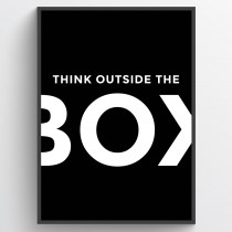Think outside the box - plakat
