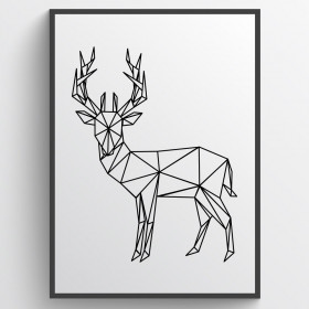 Den simple hjort -Plakat wallsticker