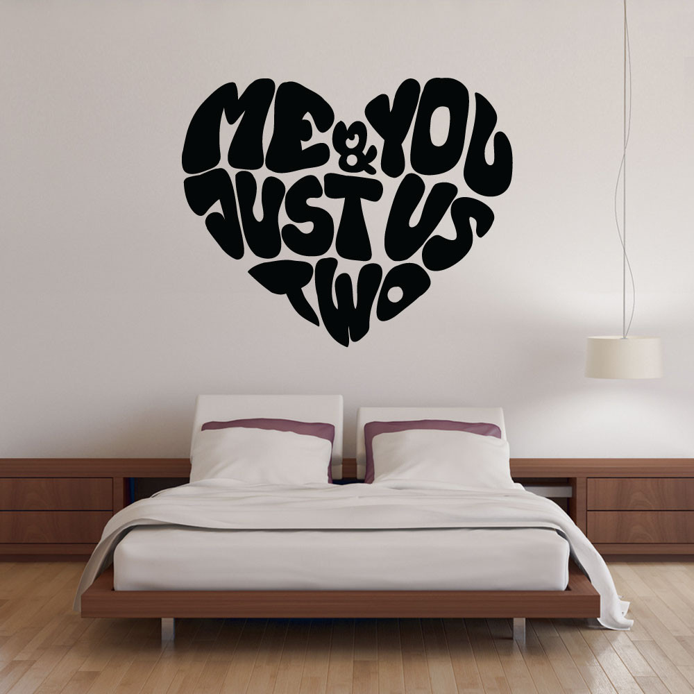 Me & you wallsticker