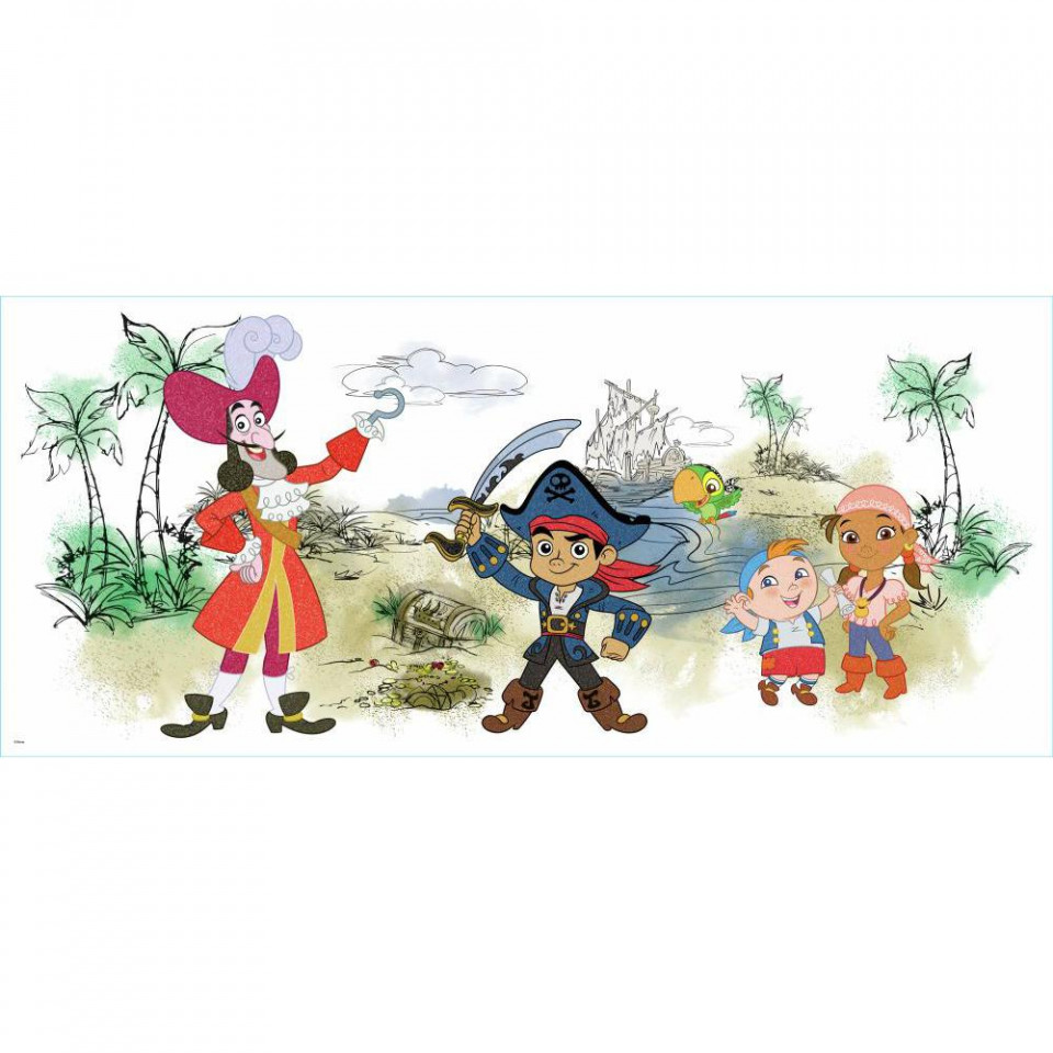 captain jake amp the never land pirates wallsticker fra roommates rmk1778scs jake and the neverland pirates peel