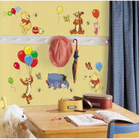 Peter Plys - pakke wallsticker