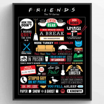 Friends (Infographic) Plakat