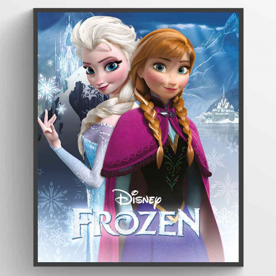 Frozen - Anna and Elsa Plakat wallsticker