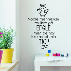 Min mor wallsticker