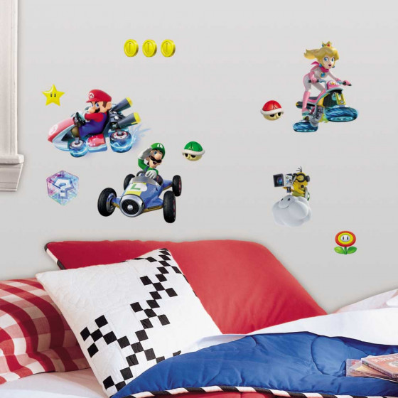 Super Mario kart - pakke wallsticker