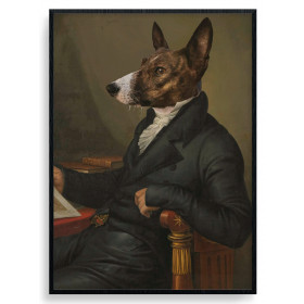 Dog portrait - personal wallsticker