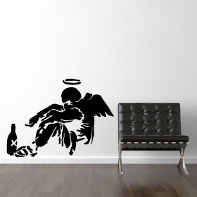 Banksy drunken angel wallsticker wallsticker
