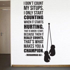 Count when it hurts - Muhammad Ali wallsticker