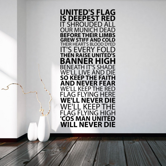 Uniteds flag wallsticker
