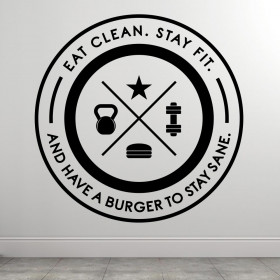 Eat Clean Stay Fit wallsticker