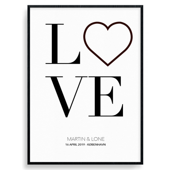 Personlig love plakat wallsticker