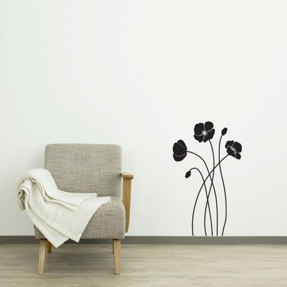 Valmuer wallsticker