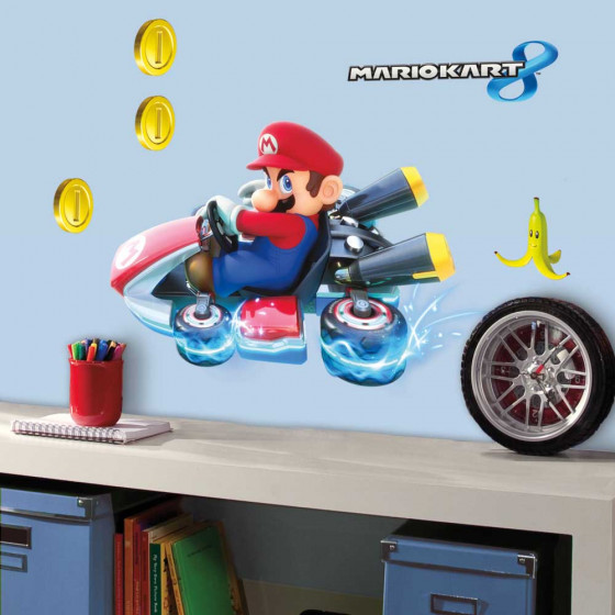 Super Mario Kart - Mario wallsticker