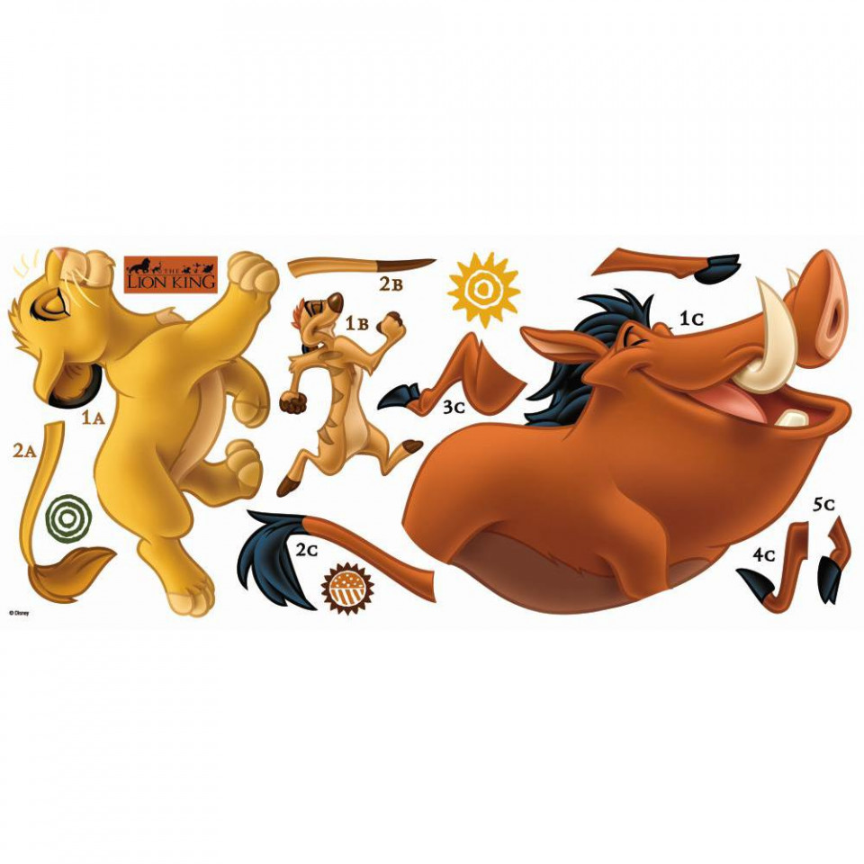 l 248 vernes konge simba timon amp pumba wallsticker fra new lion king giant wall decals kids growth chart bedroom