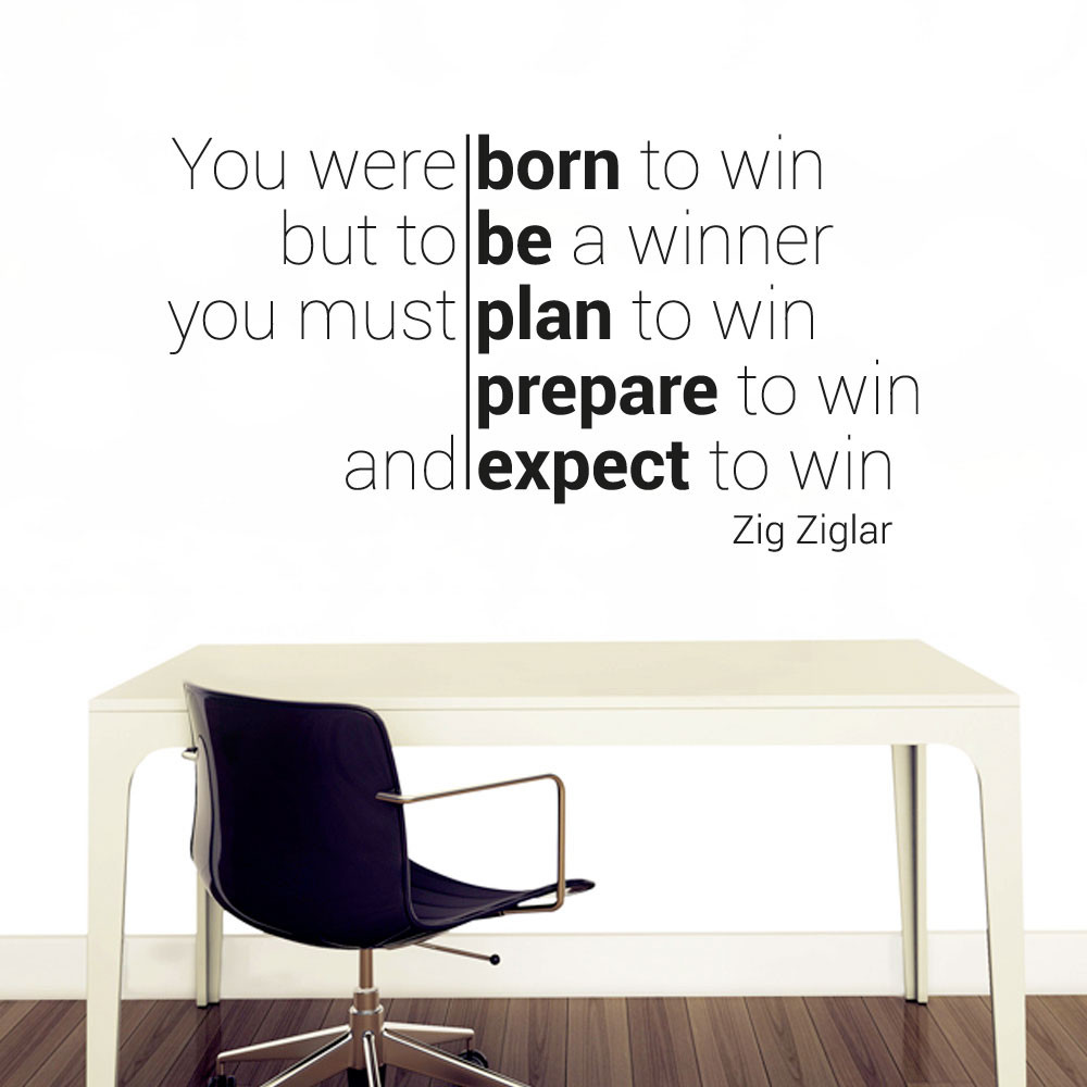 Born to win wallsticker