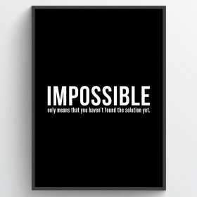 Impossible plakat wallsticker