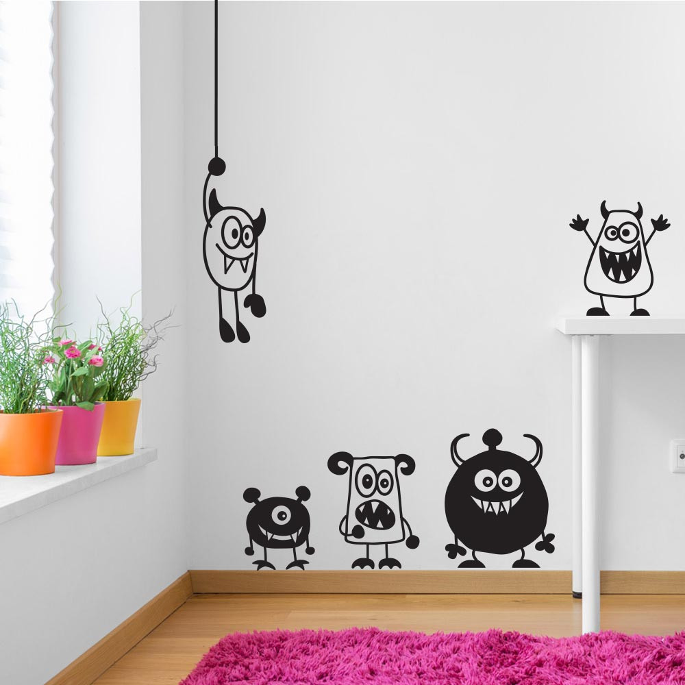 Søde monstre wallsticker