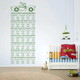 Oles nye automobil wallsticker wallsticker
