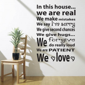 #2 In this house wallsticker