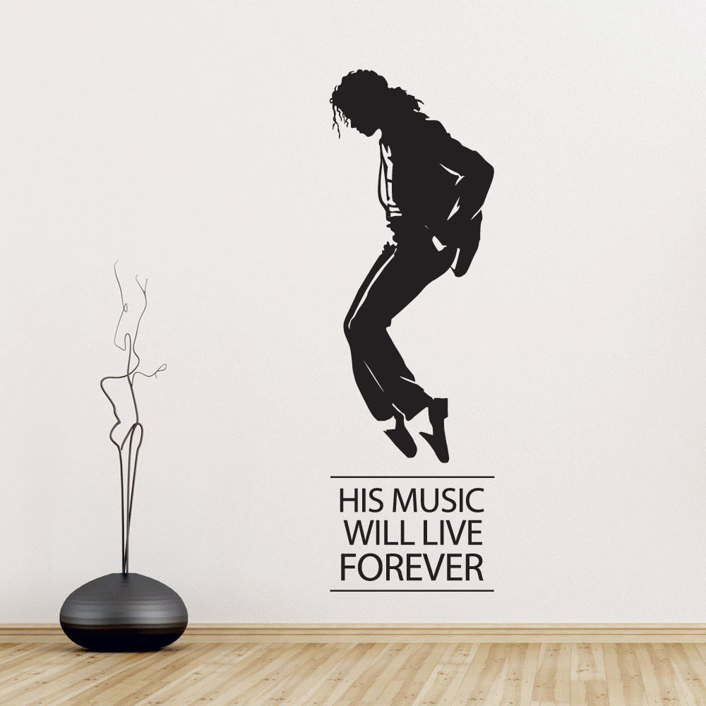 Michael Jackson moonwalk wallsticker