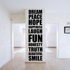 Positive ord wallsticker