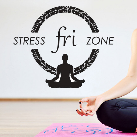 Stress fri zone wallsticker