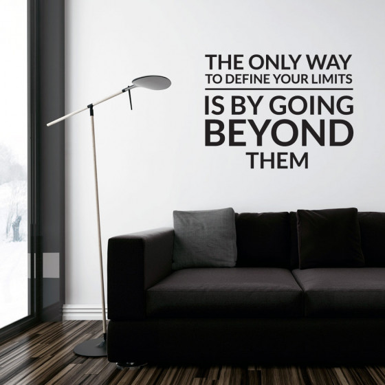 Define your limits wallsticker