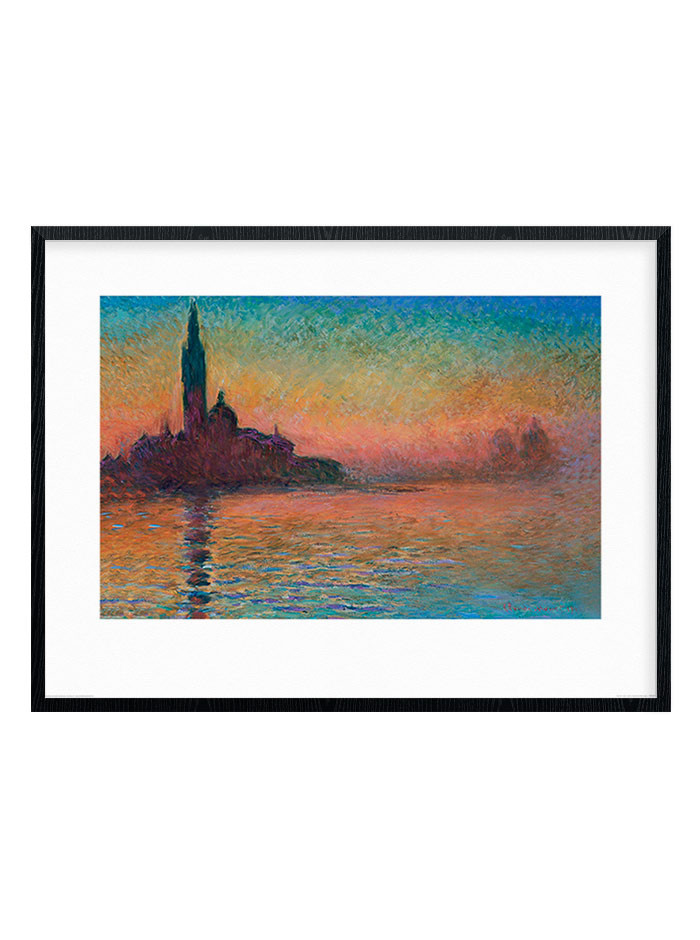 Monet - Sunset in Venice Plakat wallsticker