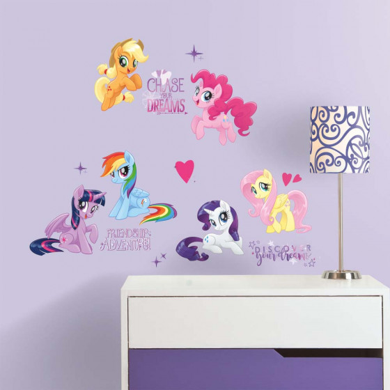 My Little Pony - pakke #4 wallsticker