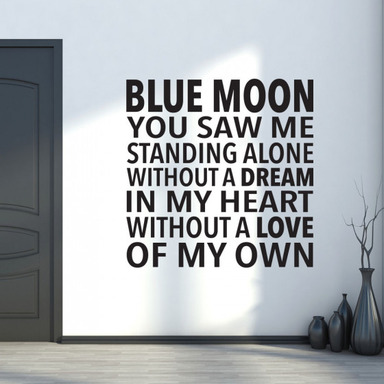 Blue Moon wallsticker