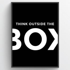 Think outside the box - plakat wallsticker
