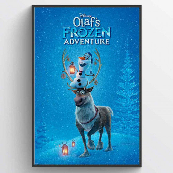 Olaf's Frozen Adventure Plakat wallsticker