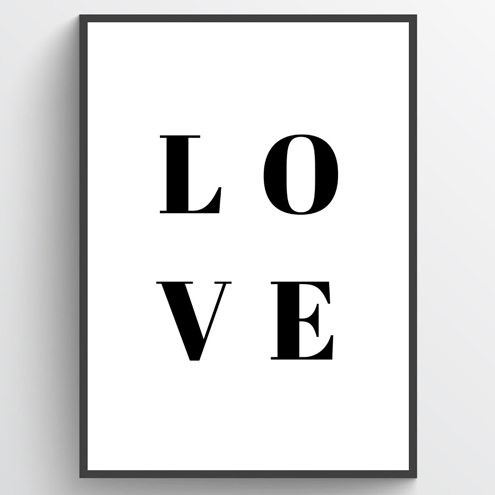 Love - plakat wallsticker