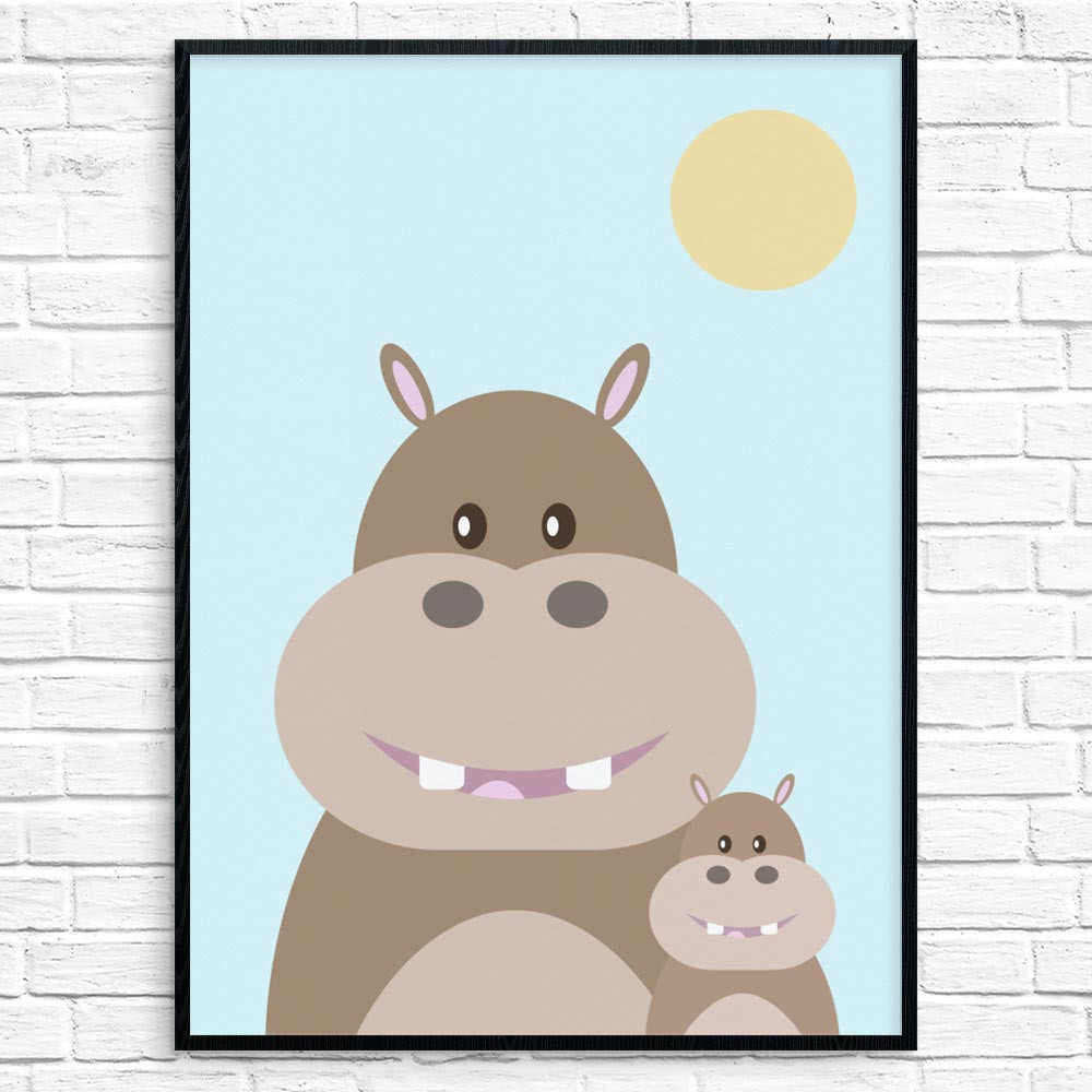 Hippo Mom Plakat wallsticker
