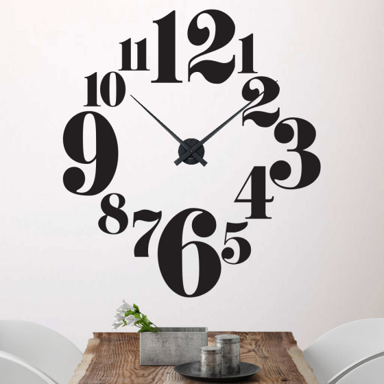 Curvy numbers ur wallsticker