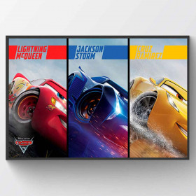 Cars 3 Split Plakat wallsticker