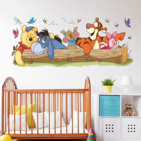 Peter Plys & venner wallsticker
