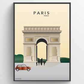 Paris - Triumfbuen - plakat wallsticker
